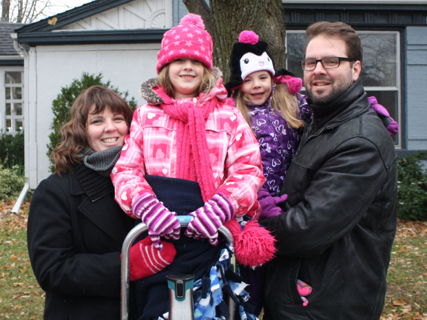 Left to right: Tracy Dupuis, Lucy Dupuis, Eloise Dupuis and Matthew Dupuis. CREDIT: DUPUIS FAMILY