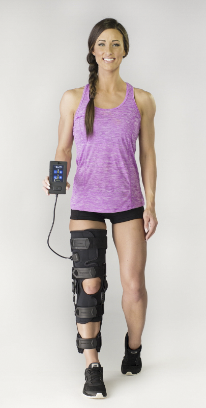 Stimulating Knee Brace Reduces Muscle Atrophy At Home