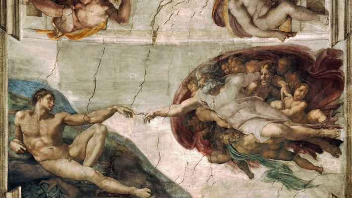 On the ceiling of Michelangelo's Sistine Chapel, God reaches out to touch Adam. The eye locks on the small gap between their index fingers, a slice of space dividing the ethereal from man.