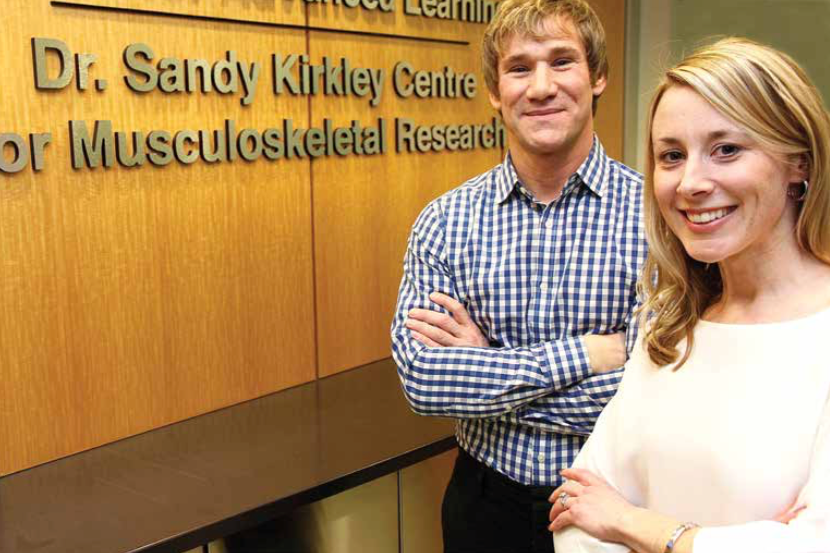 Western-led research by Trevor Birmingham, left, and Jacquelyn Marsh, right, along with Robert Giffin, conducted the first ever, trial-based analysis on the cost-effectiveness of arthroscopic knee surgery for knee osteoarthritis (OA) sufferers.