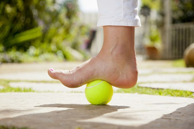 Plantar fasciitis tennis ball treatment.