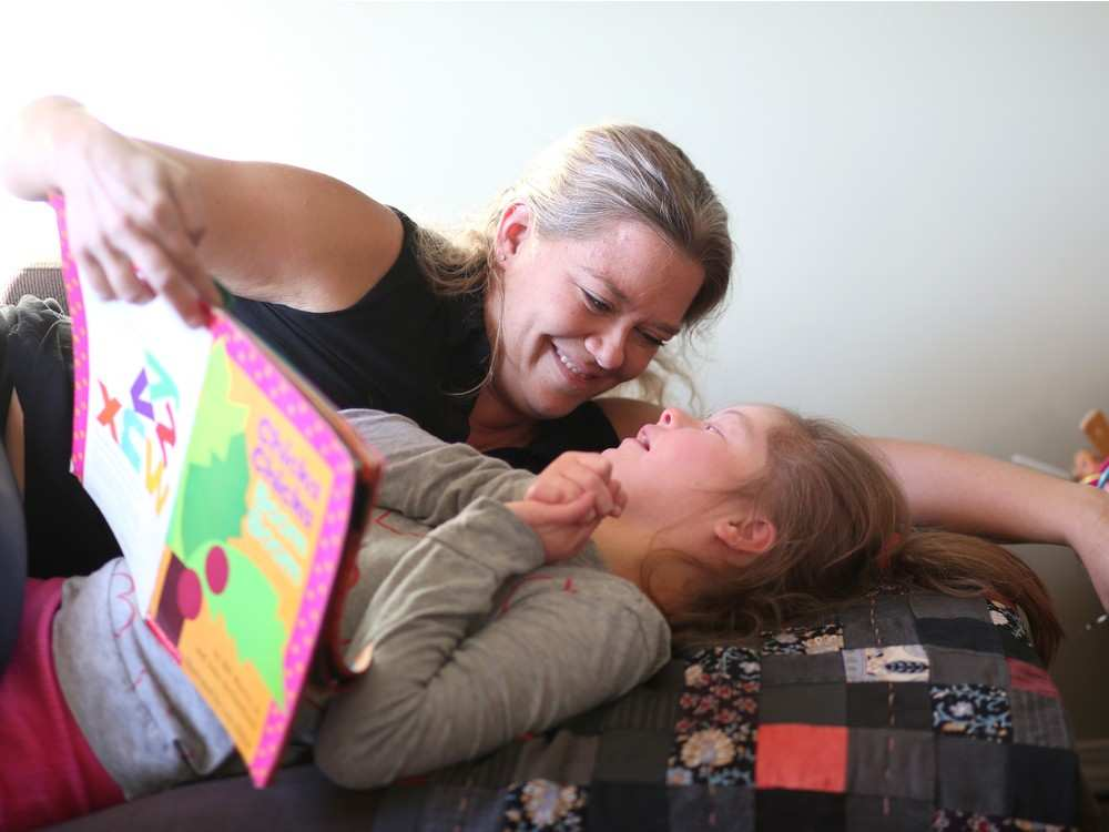 Chicka Chicka Boom Boom is one of Emily's favourite stories. Leah Hennel, Calgary Herald.