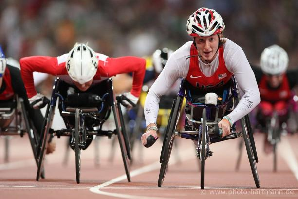 Tatyana McFadden enters 2016 as one of the hottest properties in Paralympic sport and is arguably the best female wheelchair racer of all-time. Photo www.photo-hartmann.de
