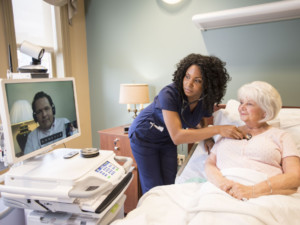 The Curavi Cart. Transforming care delivery in nursing homes through easy-to-use telemedicine solutions.