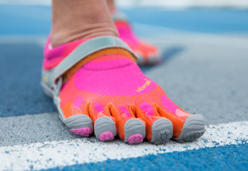 Minimalist five-finger running shoes, subject of a new BYU exercise science study. Brigham Young University