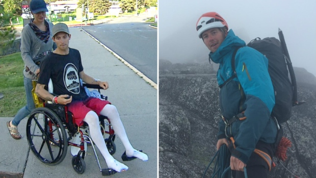 Alberta climbers walk with exoskeleton in Foothills ...