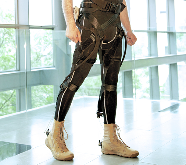 The lightweight, wearable soft exosuit could help patients suffering from lower limb disability regain their mobility. Wyss Institute at Harvard University