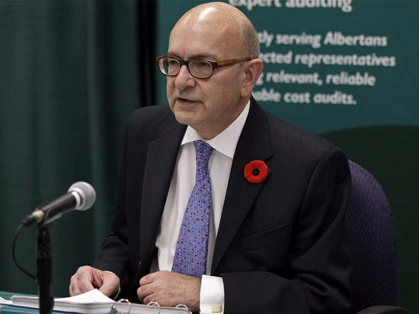 Alberta Auditor General Merwan Saher speaks about his October Report at a news conference in Edmonton, Alta., on Monday, Nov. 4, 2013. Saher has 15 recommendations to government listed in his report. Ian Kucerak Photo Edmonton Sun, QMI Agency