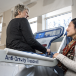 Anti-gravity treadmill has physio patients walking on air
