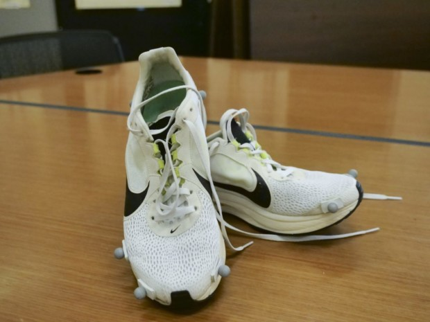 sports shoes fc960 5efc9 Nike Zoom Vaporfly 4% shoe prototypes used in testing. Casey A. Cass,  University of Colorado