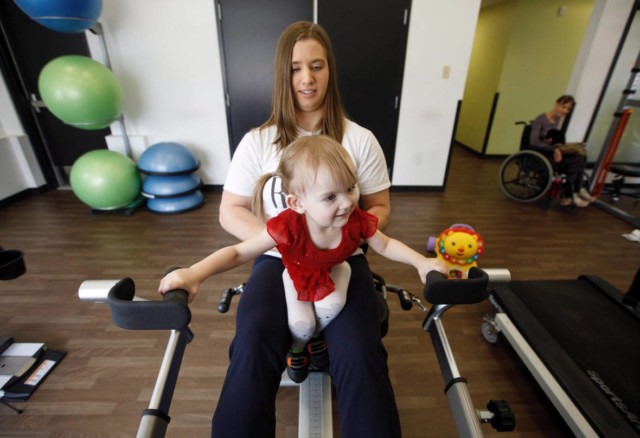 It's limitless: Paralyzed toddler moves from homemade